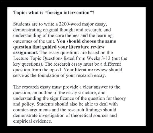 security studies homework help sample