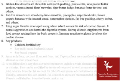 sithpat006 produce desserts assessment sample solution