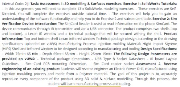 solidworks assignment help sample