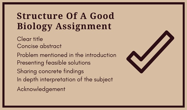 structure of a good biology assignment