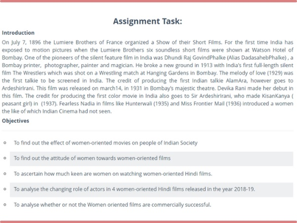 theatre studies sample assignment task online
