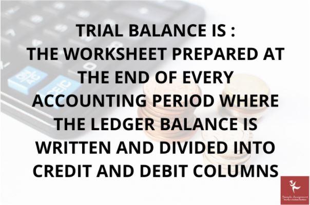trial balance assignment