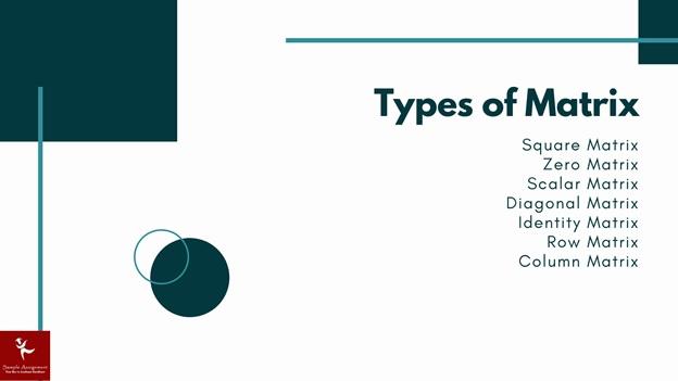 types of matrix