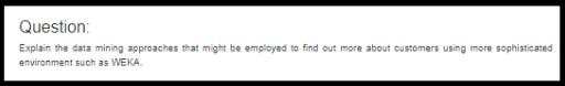 weka software assignment sample question