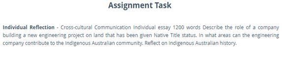 Indigenous Geographies Assignment Help through online
