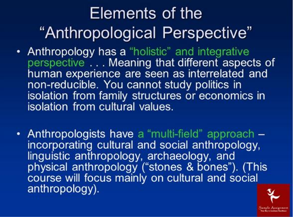 Anthropology Assignment Help Elements of the Anthropology