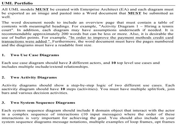 Assignment Done By Our Information Systems Academic Assistance through Online Tutoring Online UML Portfolio