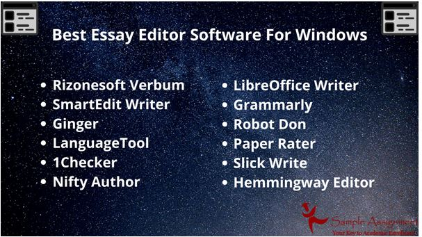 Best eassy editor software