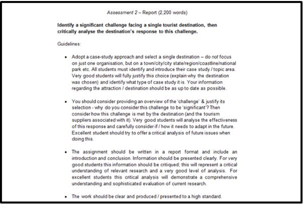 Business Tourism Management Academic Assistance through Online Tutoring Assessment
