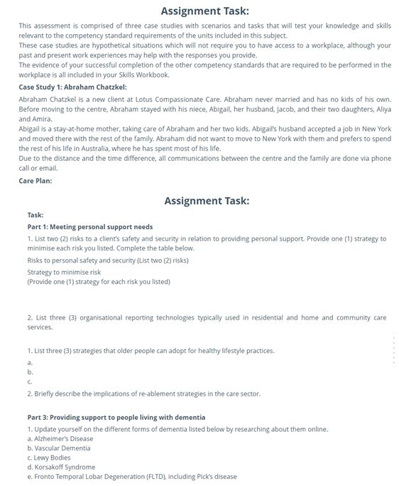 CHC33015 Certificate III assignment solutions