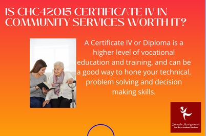 CHC42015 certificate IV in community services