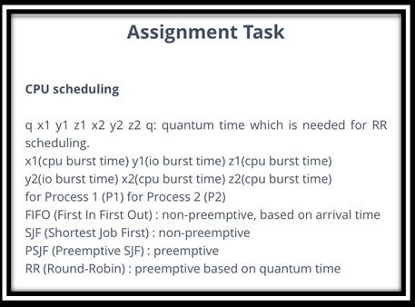 CPU Scheduling Assignment Task