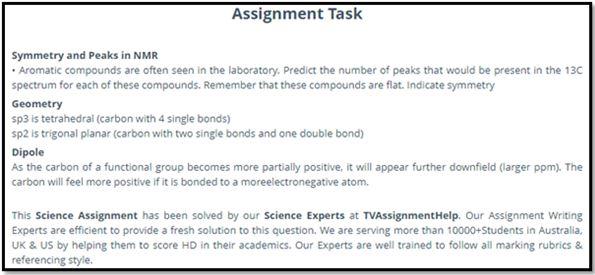 Chemometrics Academic Assistance through Online Tutoring Assignment Task Symmetry