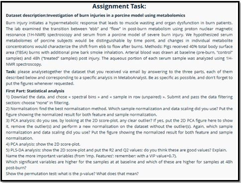 Chemometrics Academic Assistance through Online Tutoring Assignment Task