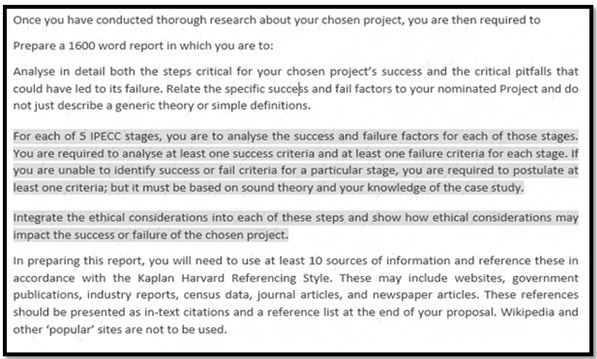 Example of Project Initiation Coursework Help for Your Reference