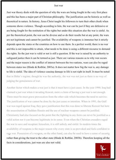 Global Economy Dissertation Help Just War