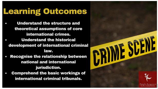 International Criminal Law Academic Assistance through Online Tutoring