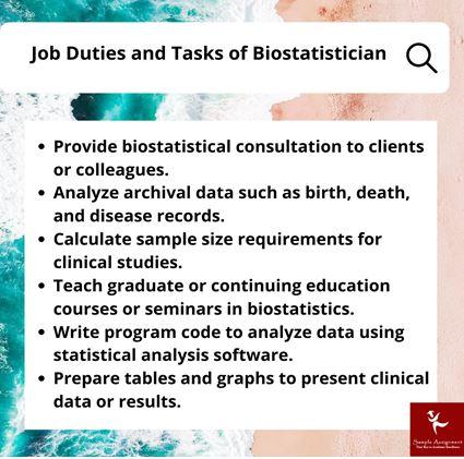 Job Duties and Task of Biostatistician