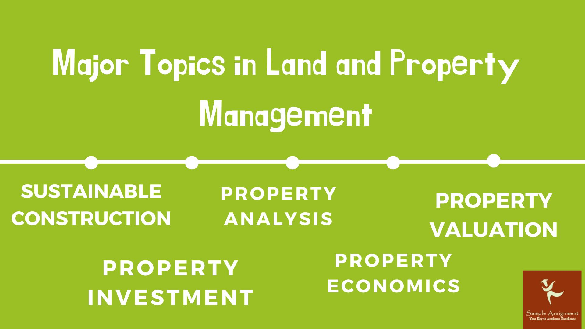 Land and Property Management Assignment Help