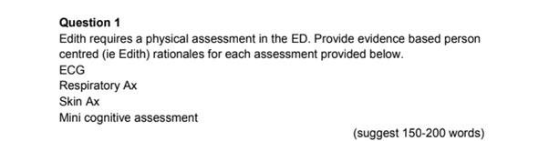 NRSG 266 principles of nursing assessment answer sample question