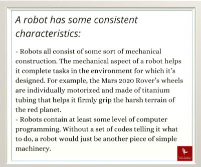 Robot Consistent Characteristics