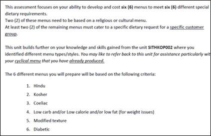 SITHKOP004 sample assessment 1