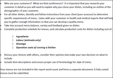 SITHKOP004 sample assessment task 2