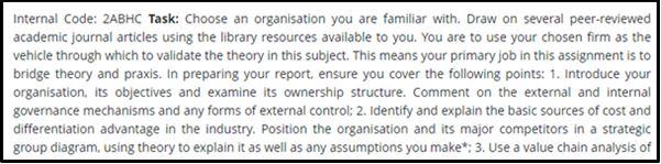 Strategic Management Capstone Assignment Question Answer