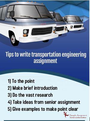 Transportation engineering assignment