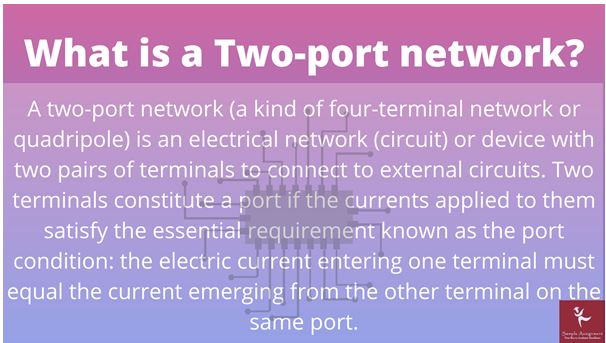 What Is Two Port Network