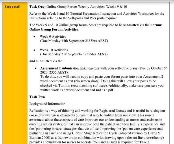 a glimpse of a reflection paper assignment sample services