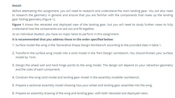aircraft design principles assignment sample question
