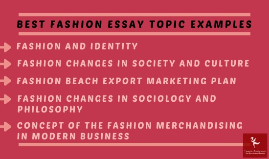 best fashion essay topic examples