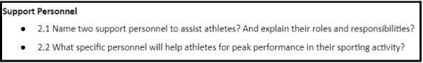 btec sport coursework sample online