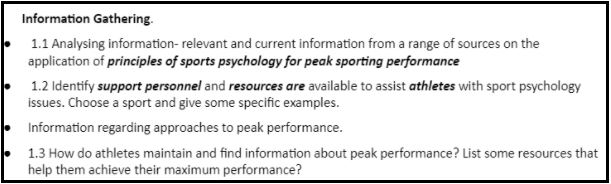 btec sport coursework sample