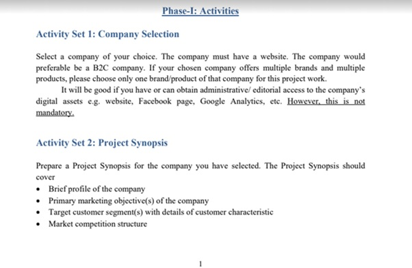 capstone project assignment sample