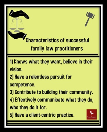charateristics of successful family law practitioners