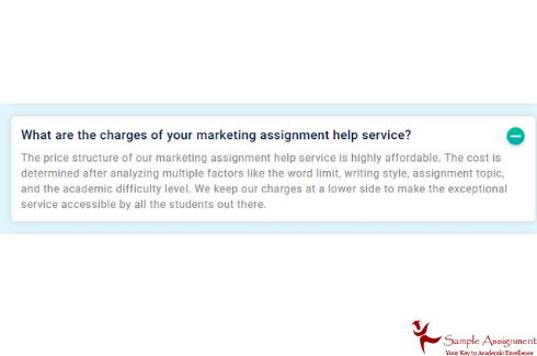 charges of marketing assignment help