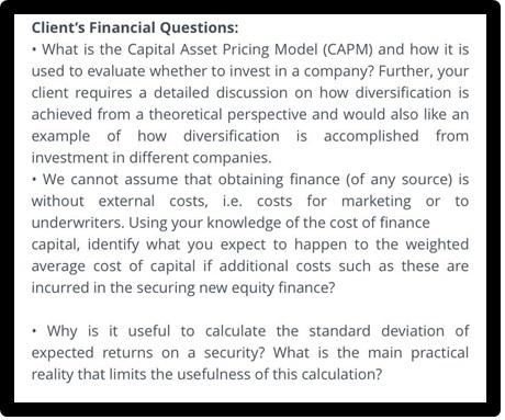 client financial question 662