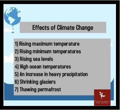climate change homework