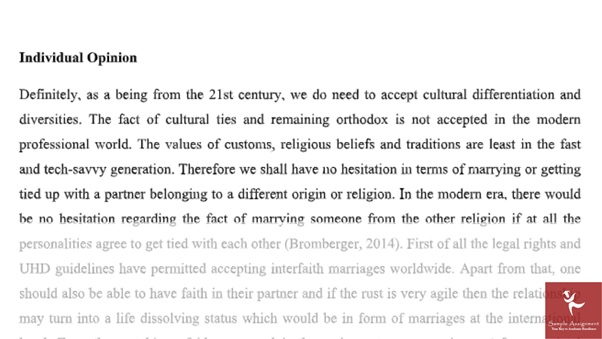comparative religions assignment sample answer