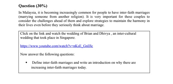 comparative religions assignment sample question