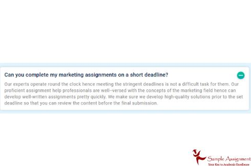 complete marketing assignment on short deadline