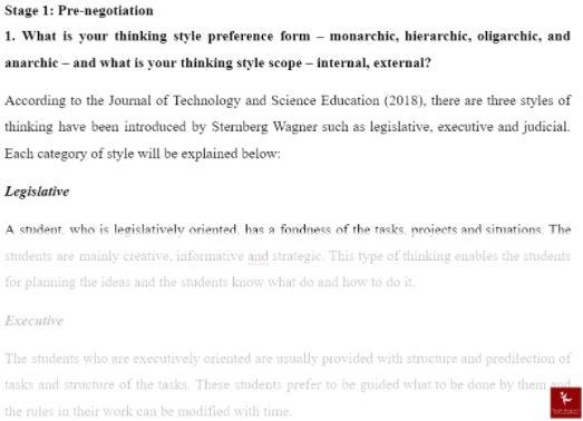 conflict management dissertation sample solution