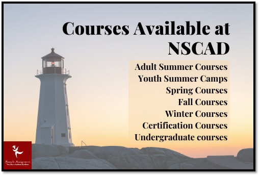 courses available at nscad