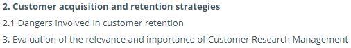 customer retention assignment sample online