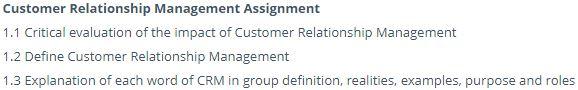 customer retention assignment sample