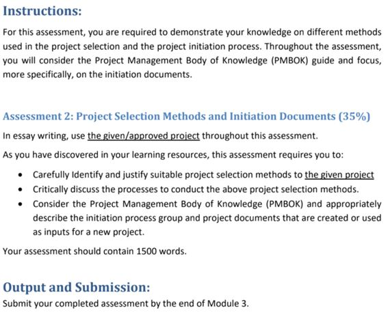 diploma of project management assignment sample