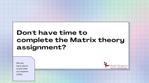 don t have time to complete the matrix theory assignments