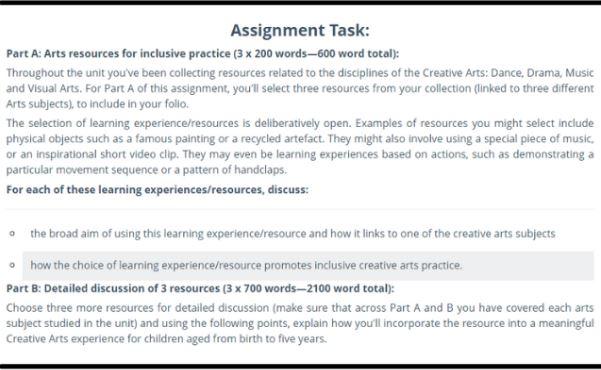 drama dance and cinematics assignment sample